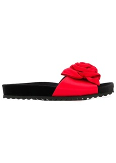 Miu Miu rose applique slides