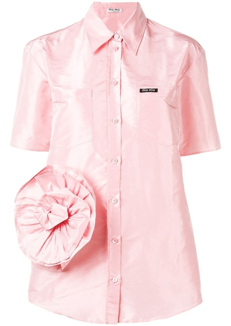 Miu Miu rose detail shirt