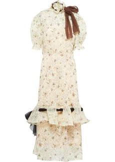 Miu Miu rose ramage print ruffled dress