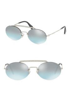 Miu Miu Round 54MM Aviator Sunglasses