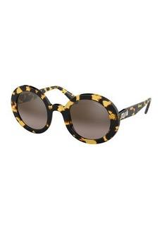Miu Miu Round Gradient Sunglasses