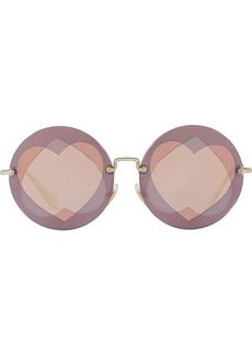 Miu Miu round heart sunglasses