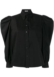 Miu Miu ruched sleeve blouse