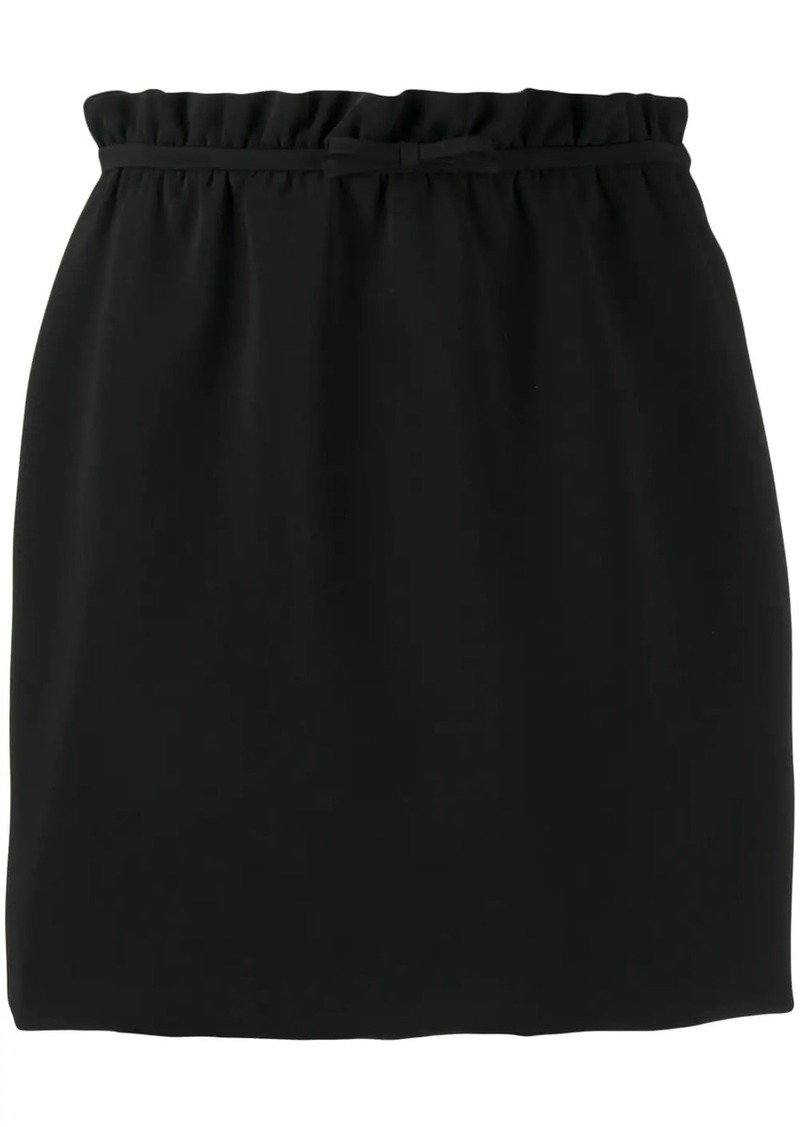 Miu Miu ruched waist skirt