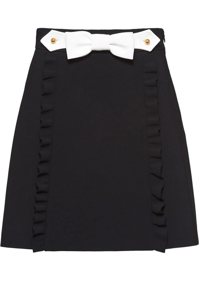 Miu Miu ruffle bow mini skirt