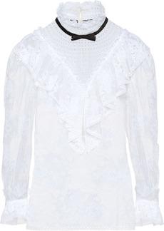Miu Miu ruffle lace blouse