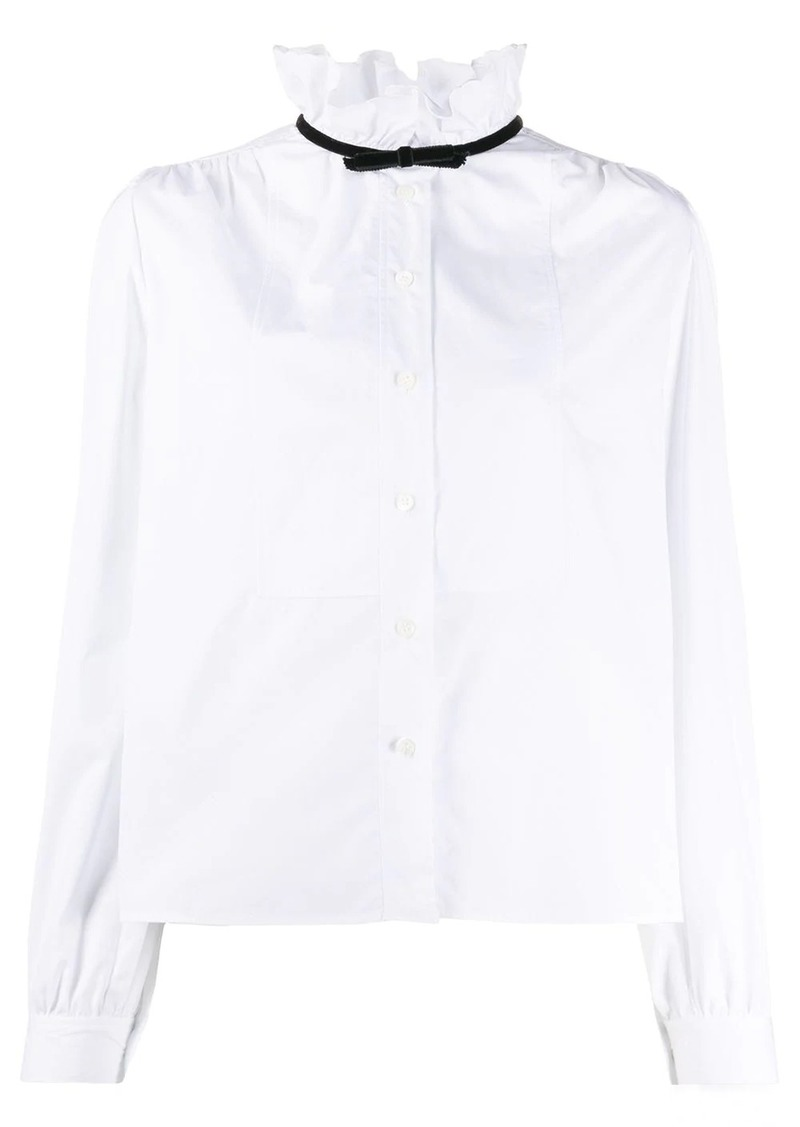 Miu Miu ruffle neck shirt