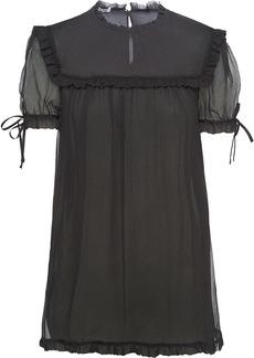 Miu Miu ruffle trim blouse