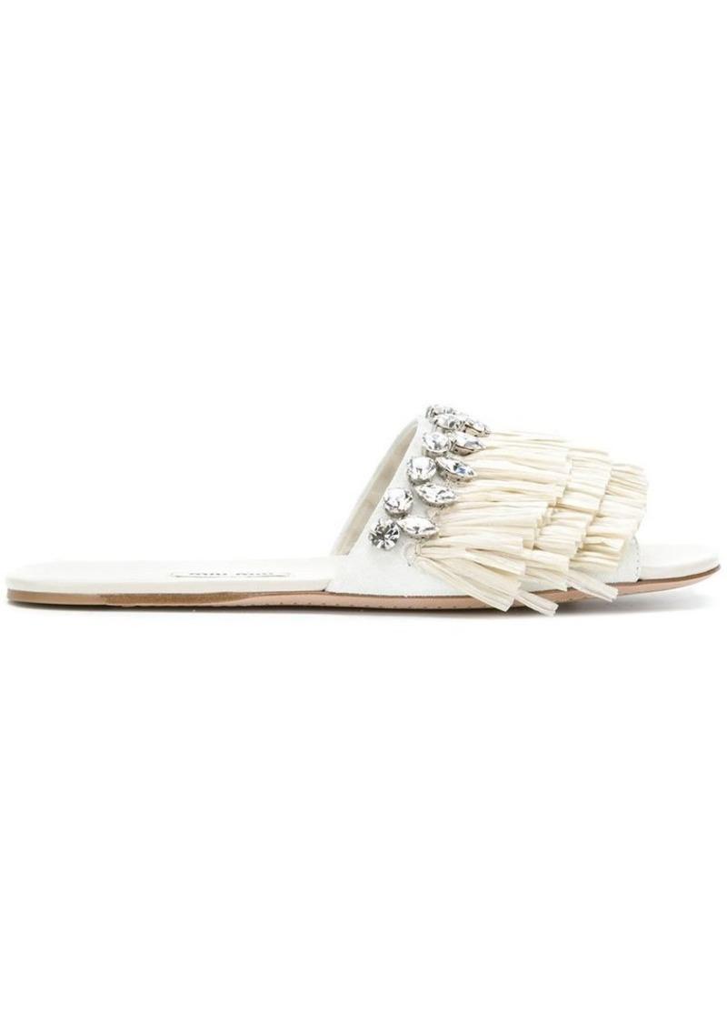 Miu Miu ruffle-trimmed sandals