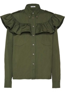 Miu Miu ruffled boxy shirt