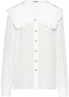 Miu Miu ruffled collar blouse