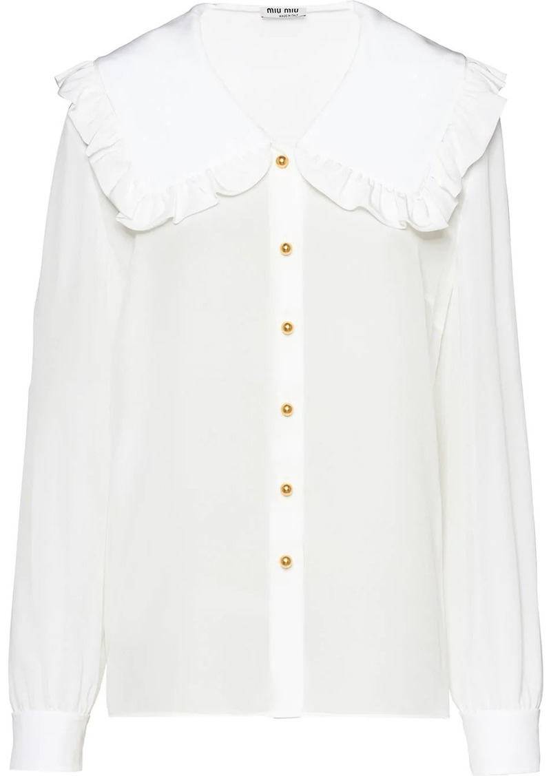 Miu Miu ruffled collar blouse