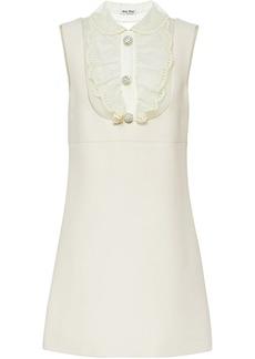 Miu Miu ruffled neck mini dress