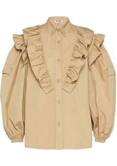 Miu Miu ruffled poplin blouse