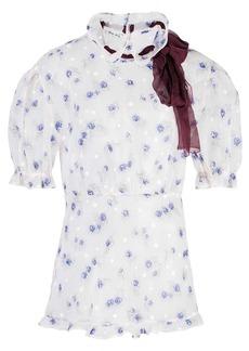 Miu Miu ruffled sheer blouse
