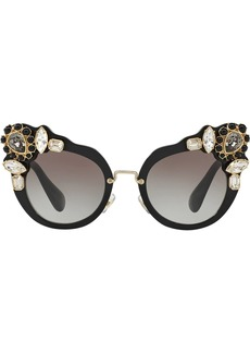 Miu Miu Runway crystal-embellished sunglasses