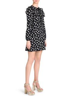 Miu Miu Sable Daisy Print A-Line Mini Dress