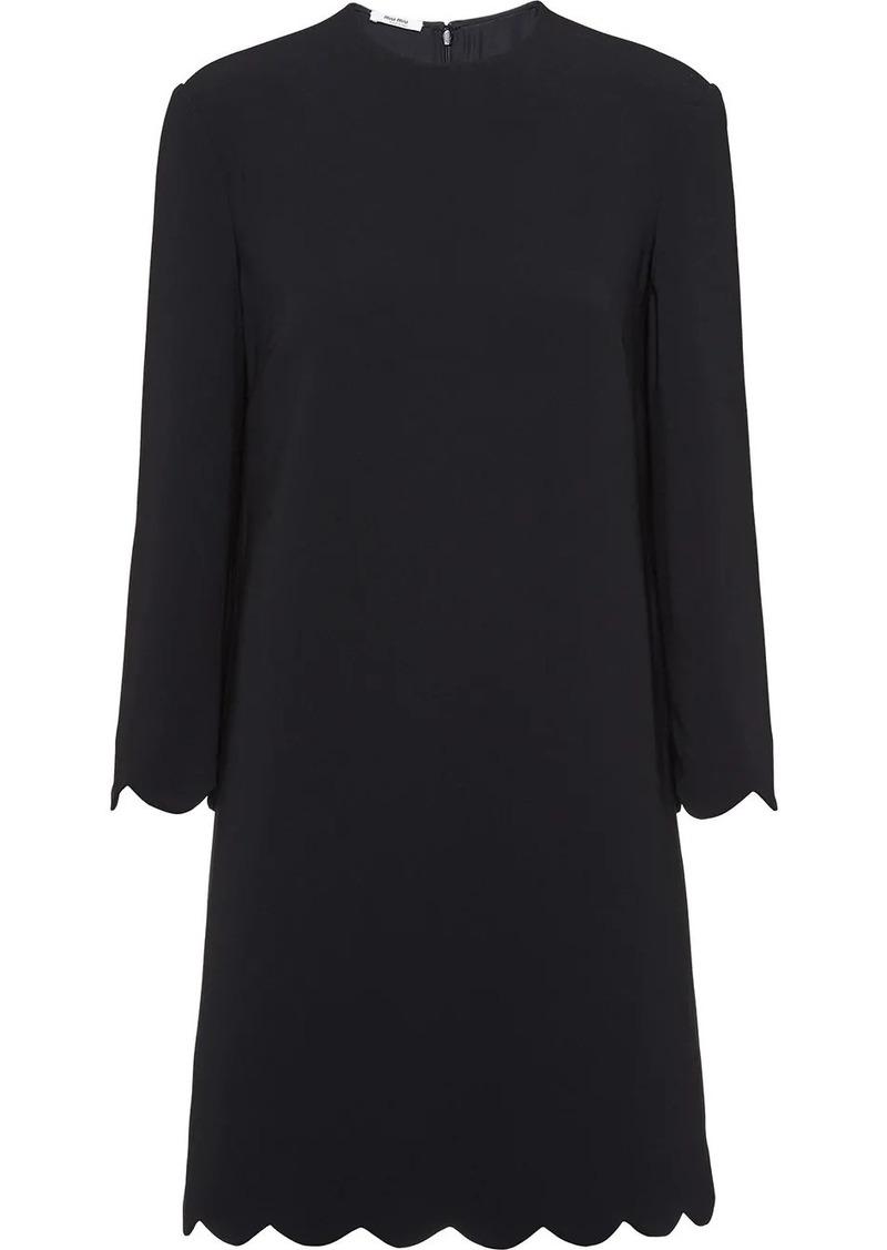 Miu Miu scallop trim short dress
