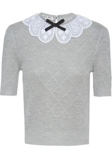 Miu Miu scalloped collar knitted top