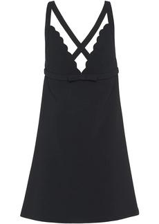 Miu Miu scalloped faille cady dress