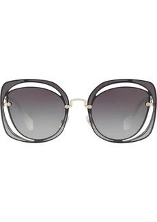 Miu Miu Scenique geometric-frame sunglasses