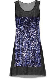 Miu Miu Sequin-embellished Cotton-tulle Midi Dress