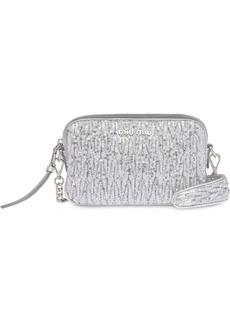Miu Miu sequin embellished crossbody bag