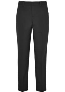 Miu Miu Sequin-embellished Wool-blend Straight-leg Pants