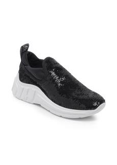 Miu Miu Sequin Pull-On Sneakers