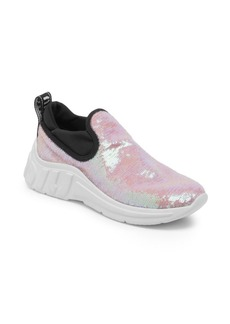 Miu Miu Sequin Pull-On Sneakers