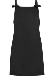 Miu Miu Sequined Open-back Wool And Silk-blend Cady Mini Dress