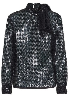 Miu Miu sequined piqué top
