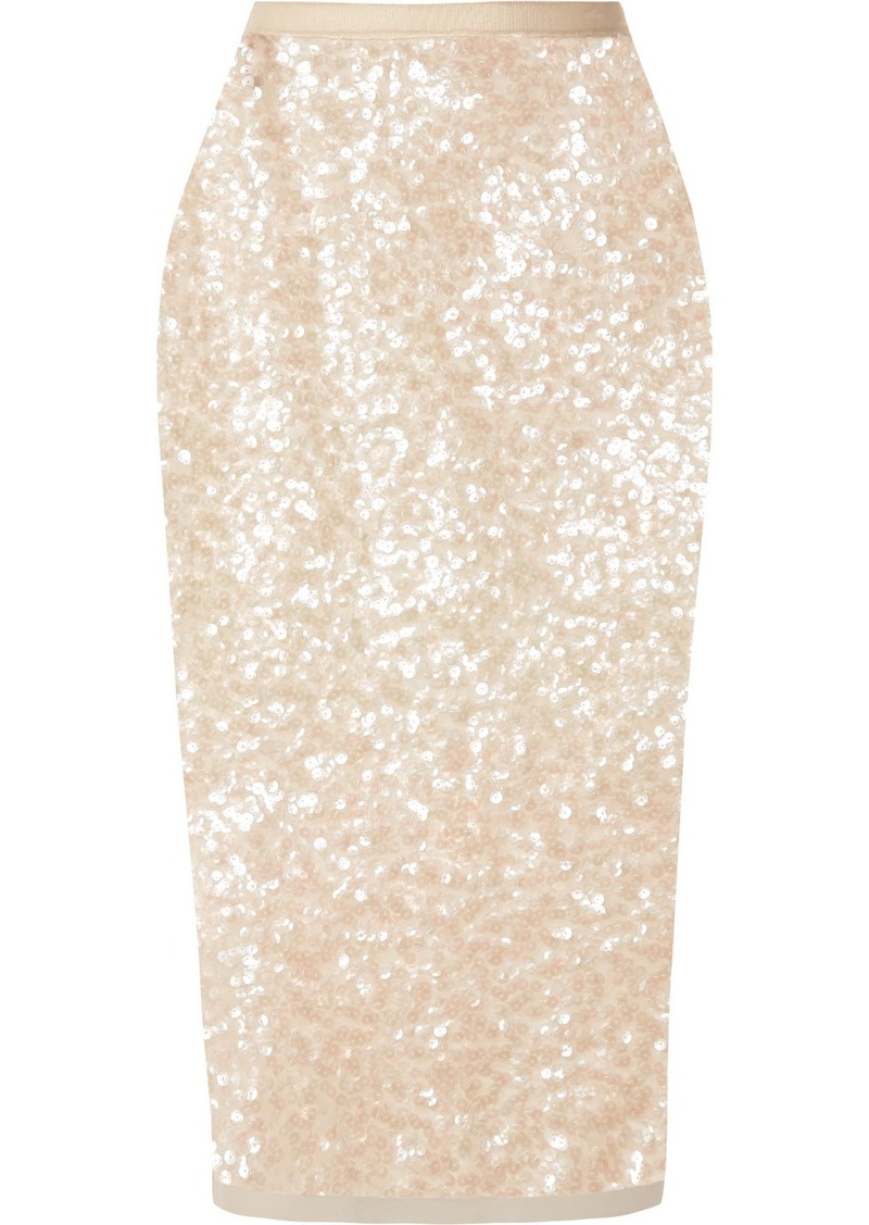 Miu Miu Sequined Tulle Midi Skirt