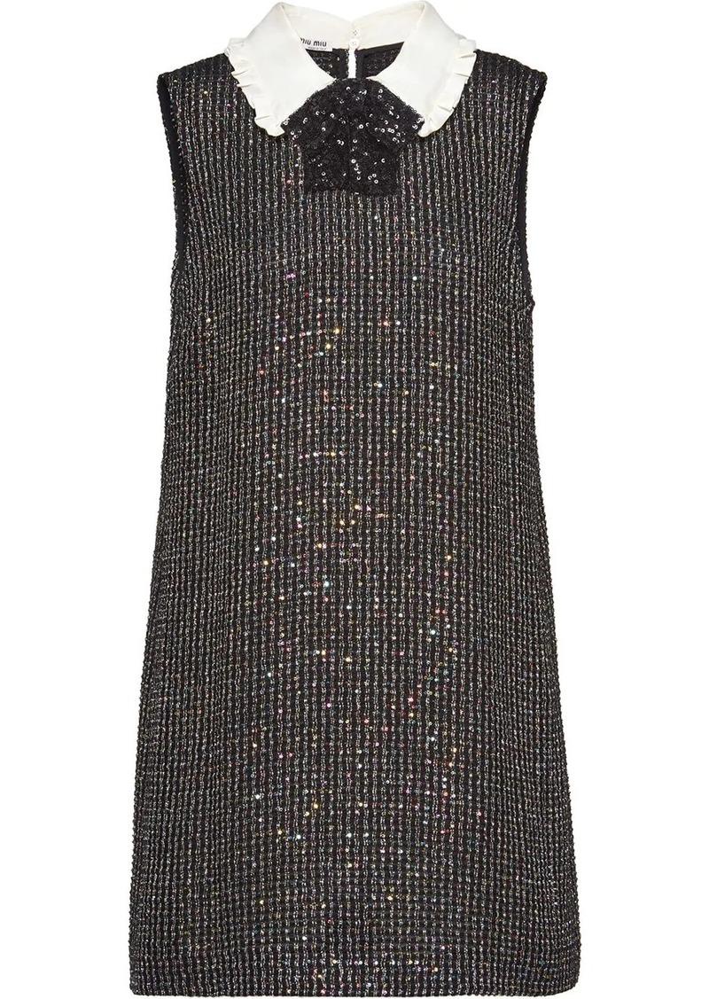 Miu Miu sequinned bouclé dress