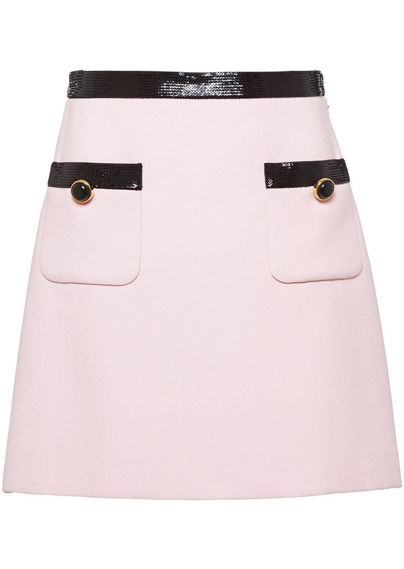 Miu Miu sequinned cady skirt