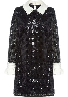 Miu Miu sequinned mini dress