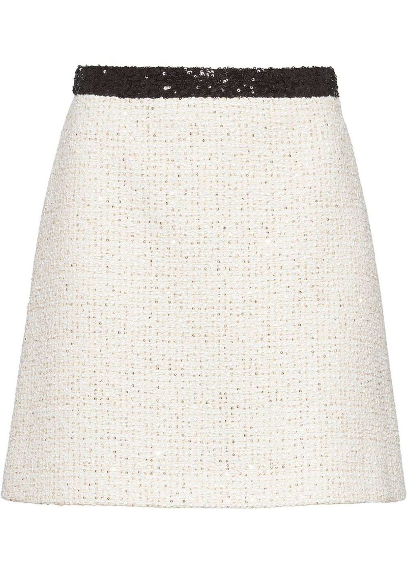 Miu Miu sequinned tweed skirt