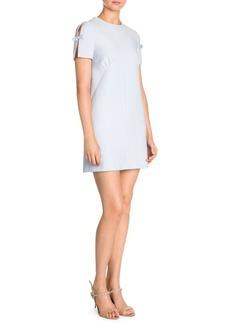 Miu Miu Short Sleeve Bow Mini Dress
