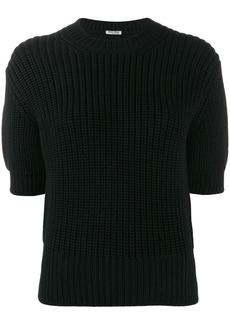 Miu Miu short-sleeve knitted top
