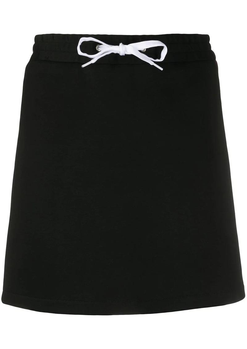 Miu Miu side panelled logo skirt