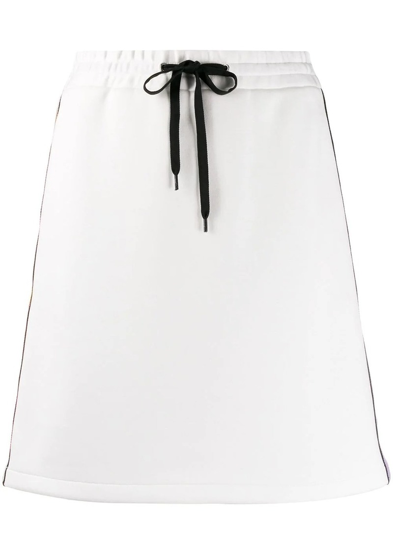 Miu Miu side stripe track skirt