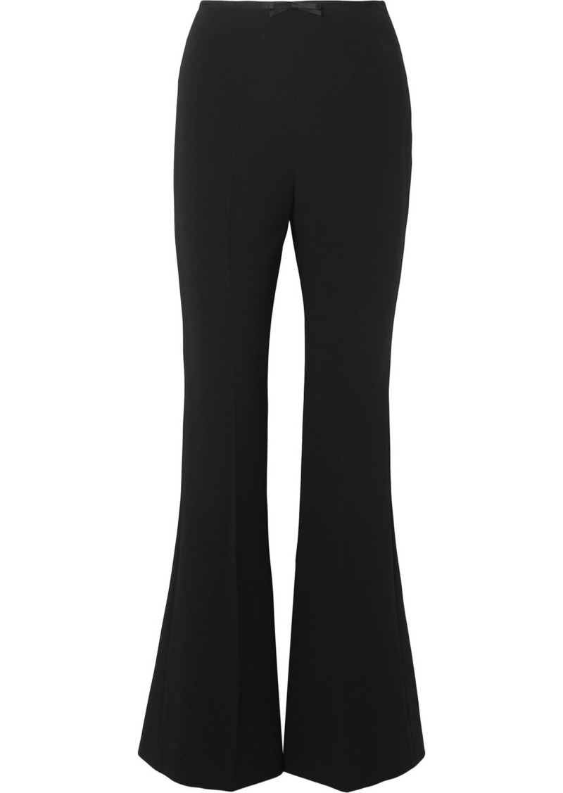 Miu Miu Silk Satin-trimmed Cady Flared Pants