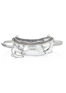Miu Miu Silver Pailletes Belt Bag