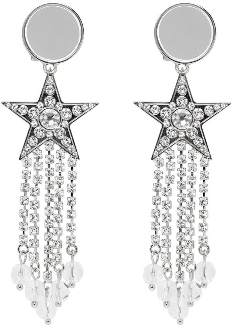Silver Star Fringed Earrings