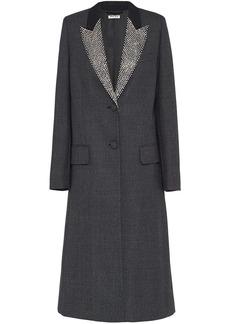 Miu Miu single-breasted checked overcoat