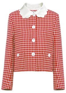 Miu Miu single-breasted tweed jacket