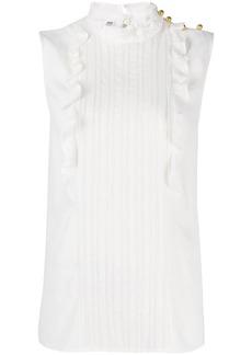 Miu Miu sleeveless pleated front blouse