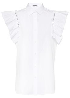 Miu Miu sleeveless poplin blouse