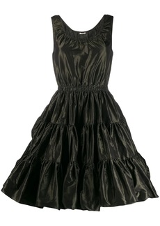 Miu Miu sleeveless tiered dress