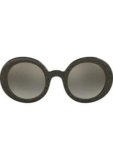 Miu Miu Smoke Glitter round frame sunglasses